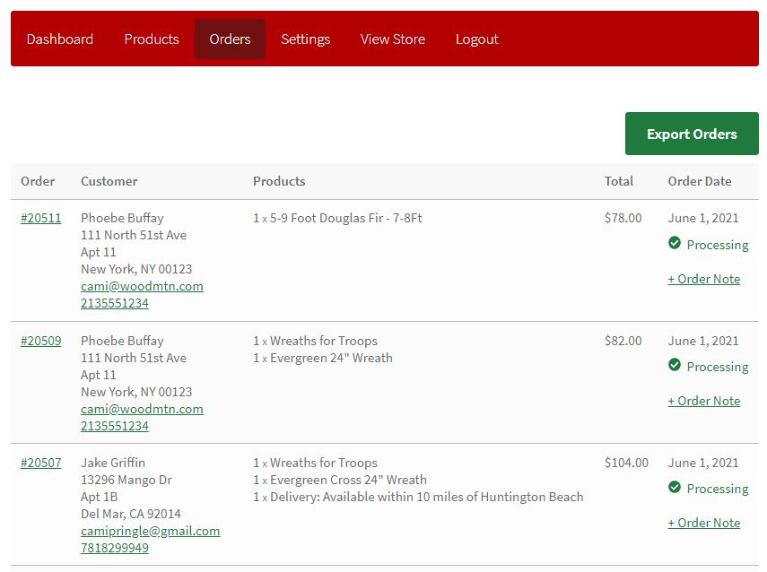 Pro Dashboard Orders